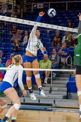 Amanda Carroll broke AVP star Brooke Sweat's FGCU kills record as a junior last season.