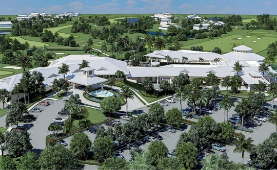 View of planned sports and fitness center at Quail Creek in North Naples