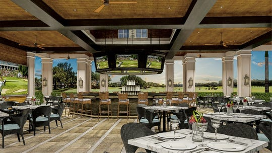 Rendering of Shadow Wood Country Club's planned outdoor dining spot