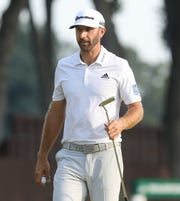 Dustin Johnson finished the day tied for 4th at 8 under par as he completed the second round of the Northern Trust PGA at the Ridgewood Country Club in Paramus, NJ.