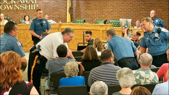Resident asked to leave Wednesday's Rockaway Township Council meeting by police officer and police chief.