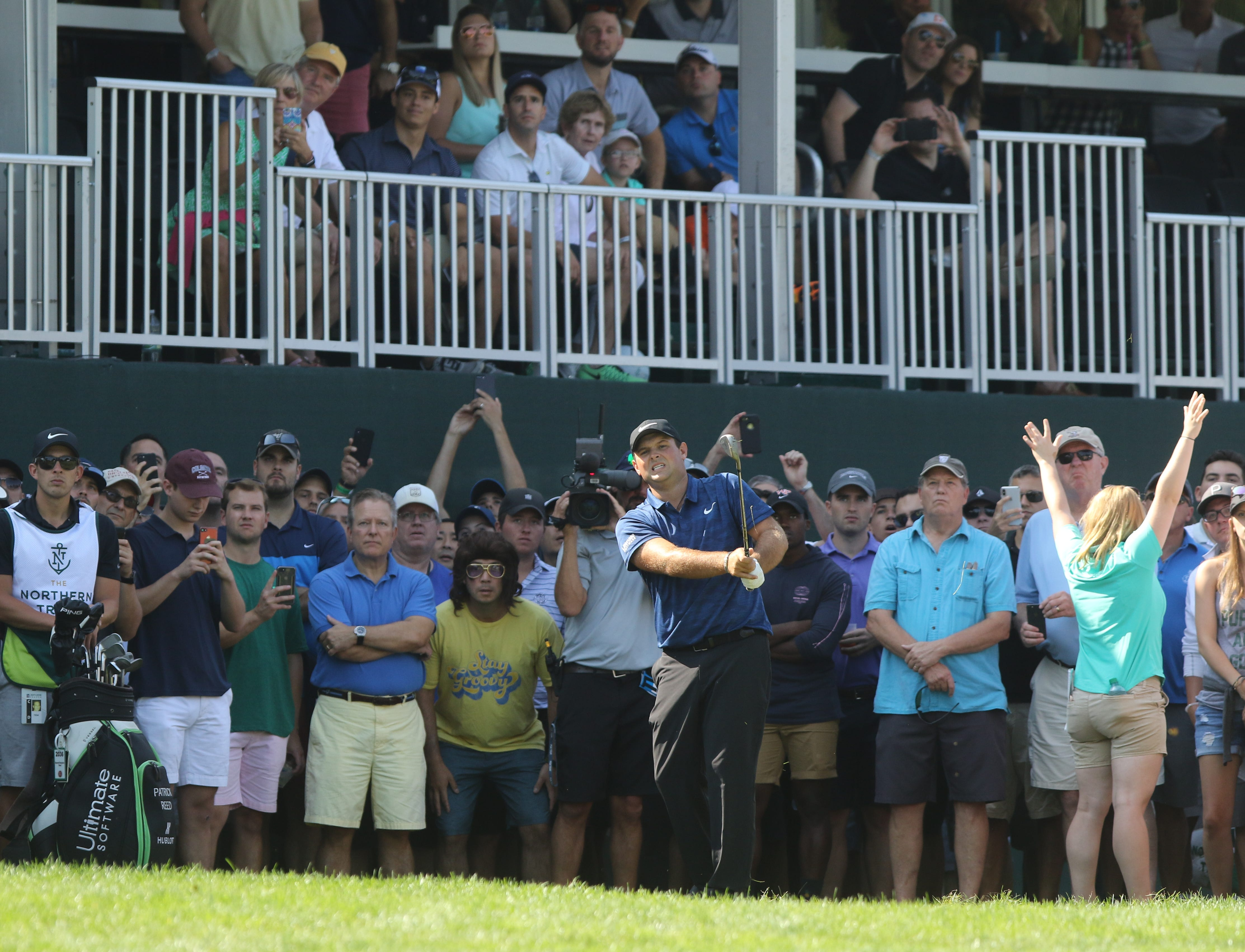 northern trust  names climb leaderboard  as tiger woods