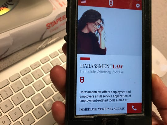 The HarassmentLaw app created by North Jersey attorney Marc Garbar