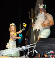 Ivy Ducklette (Ivy Martinez) was a big hit and won the Li'l Waddler title with King Neptune at the Mizkan America Duck Royalty Pageant on Thursday at the Deming Public Schools Auditorium.