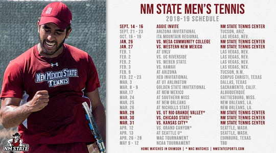 New Mexico State 2018-19 men's tennis schedule