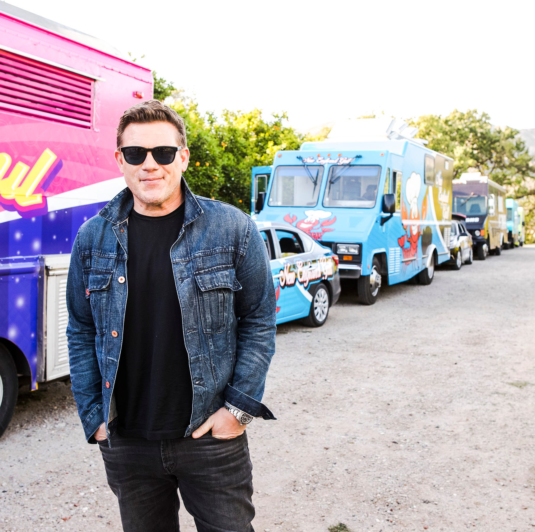 Tyler Florence, Food Network show 'Great Food Truck Race' filming in Florida (we think)