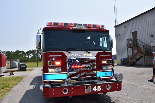 A look one of the two new engines at the Holley-Navarre Fire District.
