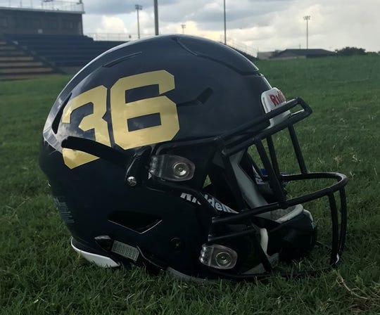 Gulf Breeze High School's helmet is the champion in this year's PNJ Helmet Wars contest.