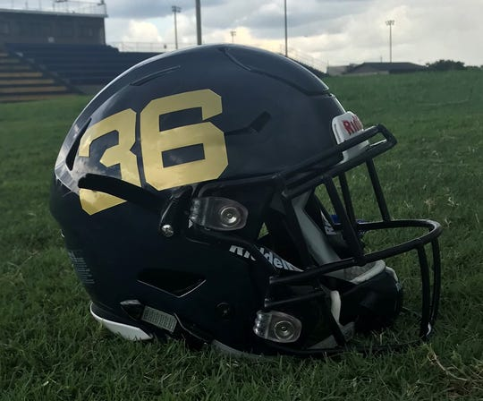 Gulf Breeze High School's helmet is the champion in this year's PNJ Helmet Wars contest.