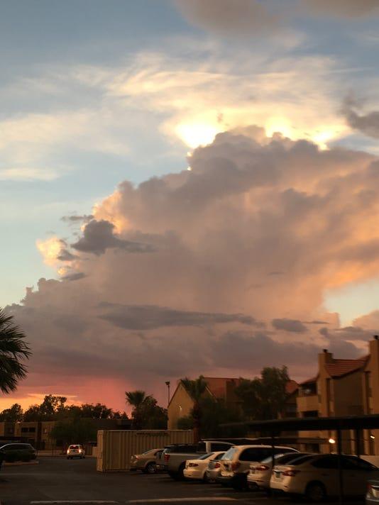 Storm clouds after Phoenix storm