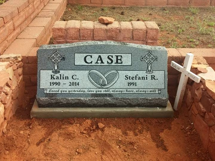 Kalin Case's headstone.