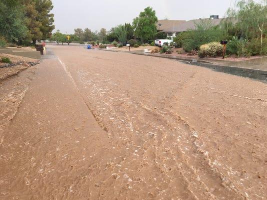 Monsoon storm in Phoenix Aug. 23, 2018