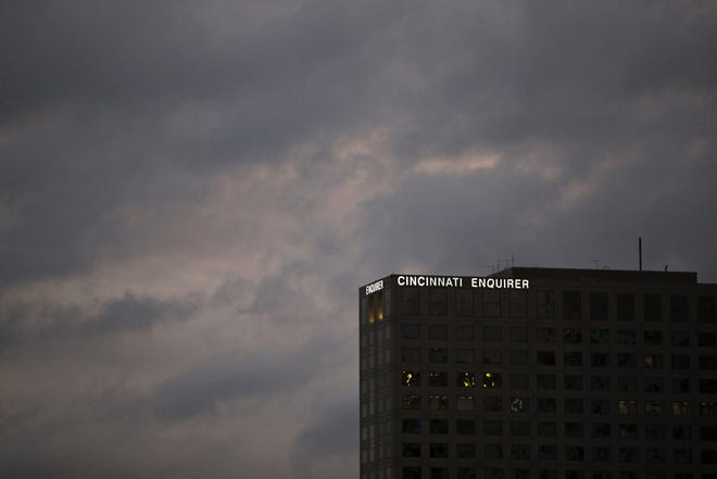 The Cincinnati Enquirer building as seen from Great American Ball Park in downtown Cincinnati on April 23, 2018.