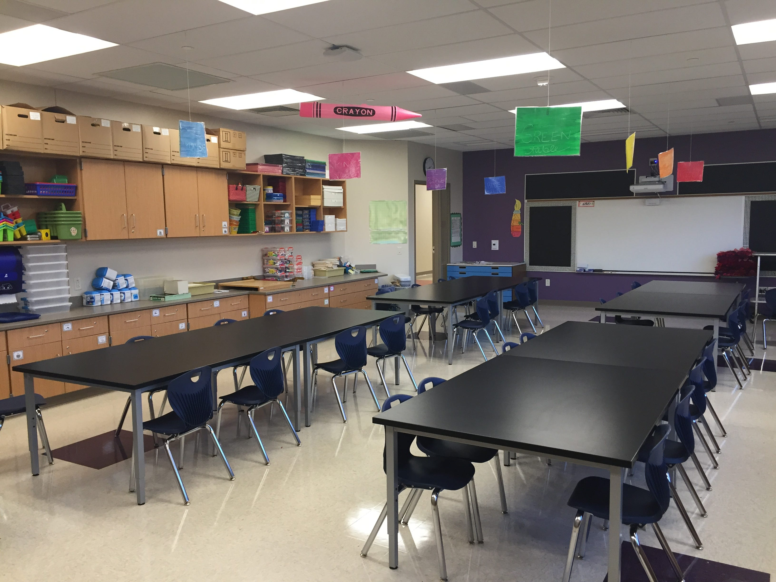 The art room in Lebanon School District's new Northwest Elementary School Aug. 23, 2018.