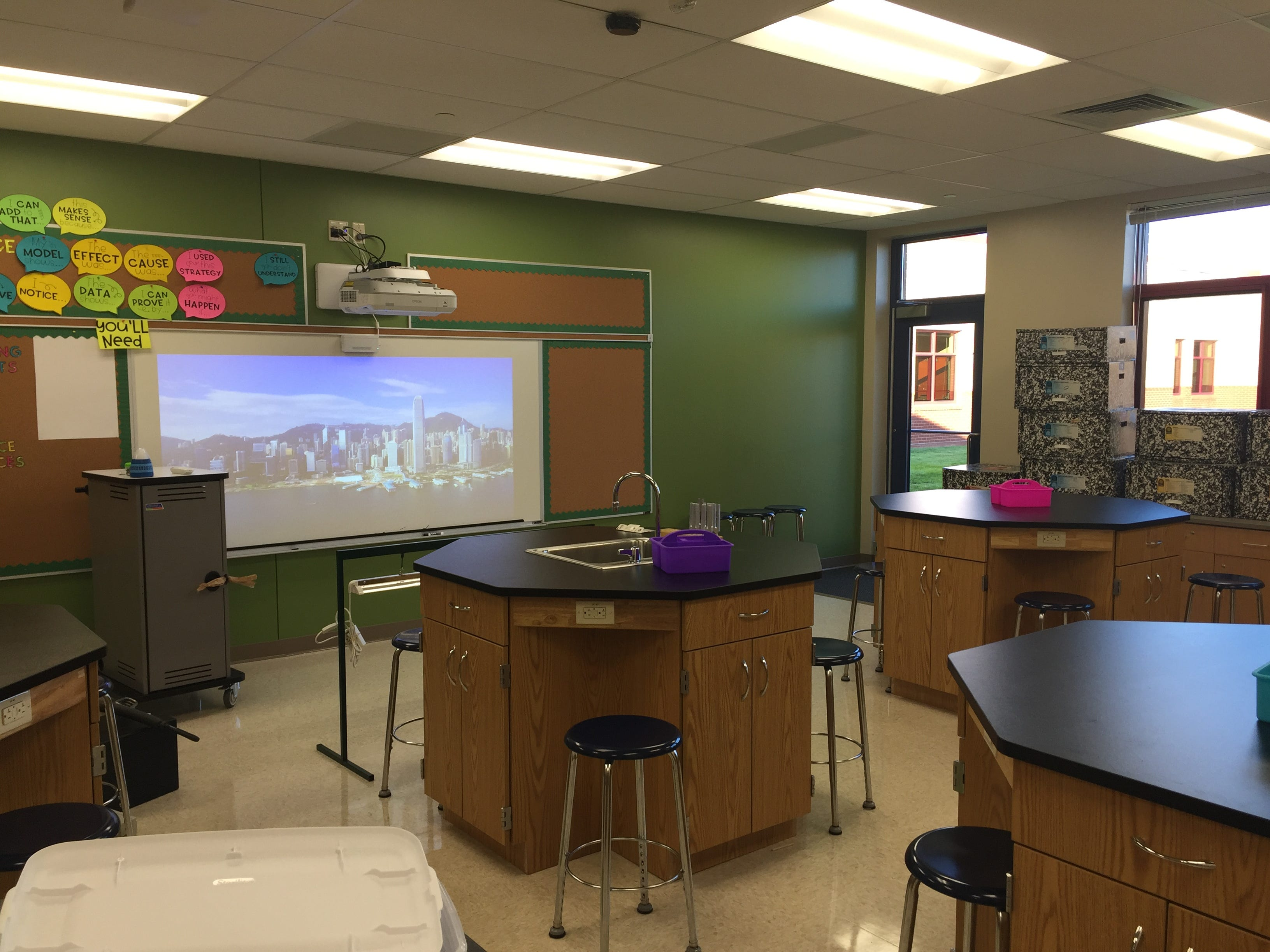The biology lab in the new Northwest Elementary School Aug. 23, 2018.