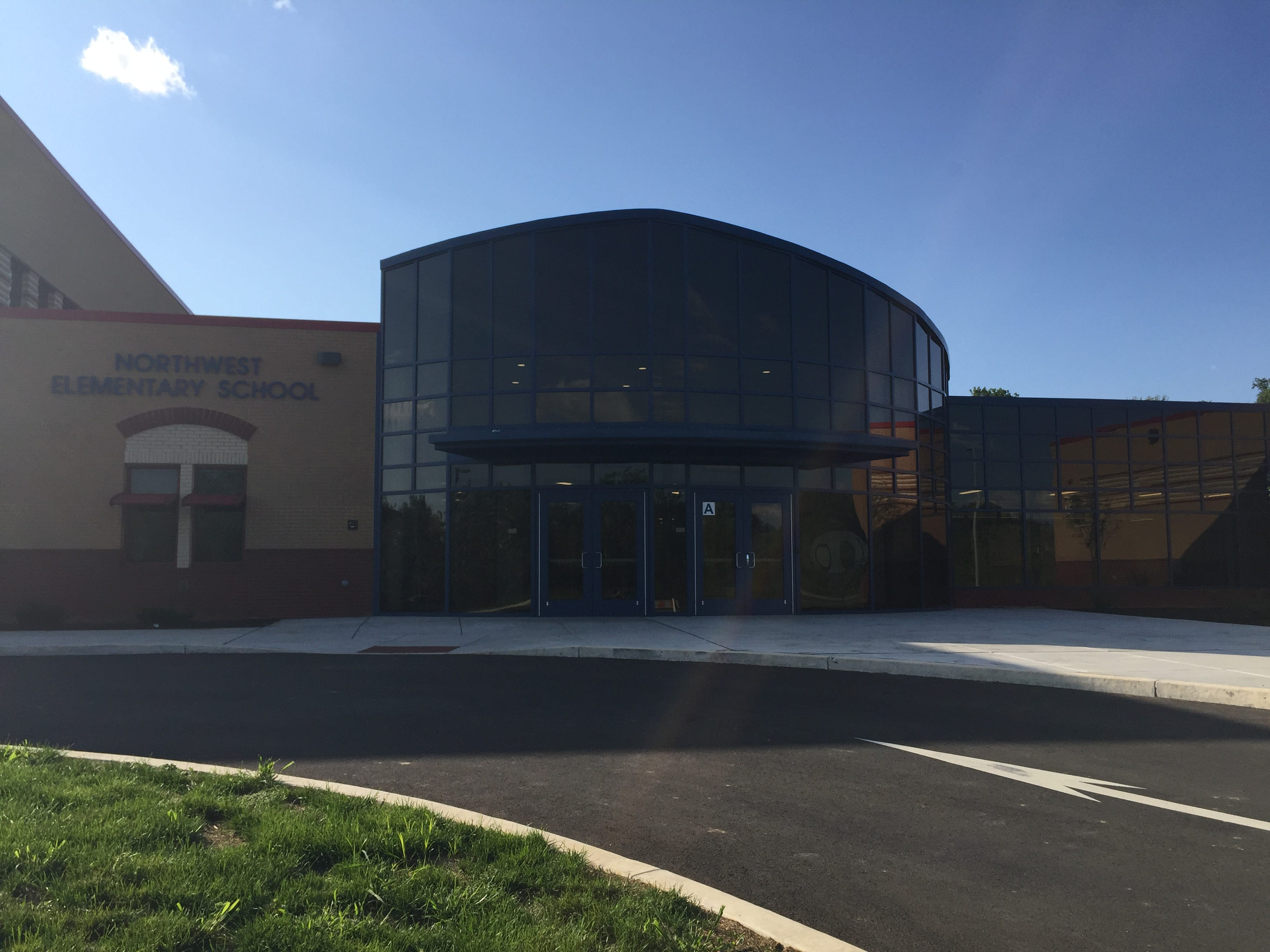 Entrance of Lebanon School District's new Northwest Elementary School Aug. 23, 2018. The building is located at 1315 Old Forge Road, Lebanon.