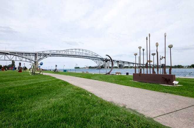 The sculpture exhibit put on by the Port Huron Art Initiative near the Blue Water Bridge was only supposed to stay up for one year, but through outside funding it was kept up for an additional amount of time.