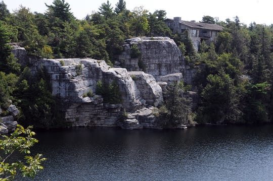 Lake Minnewaska at Minnewaska State Park Preserve in Kerhonkson.