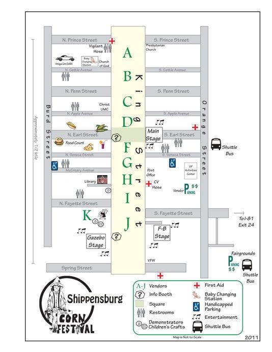 Corn Festival Map 2014 1