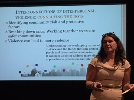 Jessica Castle, community education director of YWCA York, explains how the causes of violence are interconnected.