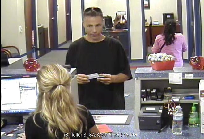 Police are searching for a man who they say robbed a Members 1st Credit Union Thursday, Aug. 23, 2018. Photo courtesy of Fairview Township Police.