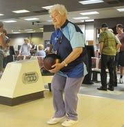 Alice Burnett warms up before the start of senior league.