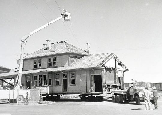 The city's historic depot was moved in 1986.