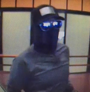 A surveillance photo of the suspect in a Friday, Aug. 24, 2018 bank robbery in Incline Village.