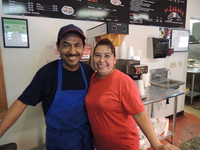 El Zarape co-owners Abraham and Justina Munoz.