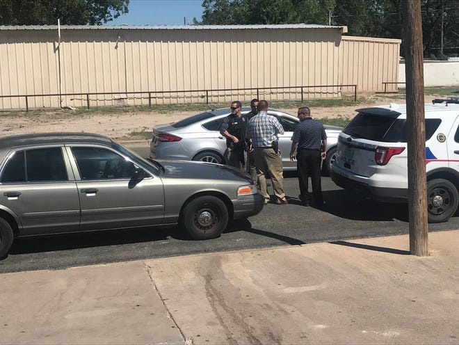 San Angelo Police search for a suspect in the 300 block of Schroeder Street in connection with the shooting of a toddler on Friday, Aug. 24.