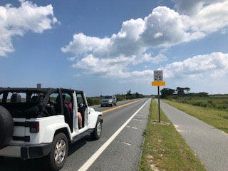 The speed limit on Verrazano Bridge entering Assateague Island has been reduced, officials annouced on Aug. 24. Courtesy of Assateague State Park Twitter page.