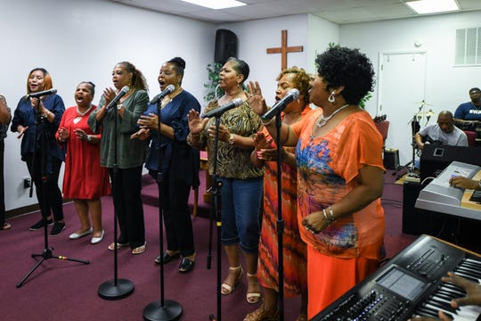 Local choir the Veney Gospel Singers of Salisbury, MD practice for their 50th anniversary concert, which will take place on September 8th at 5 p.m.
