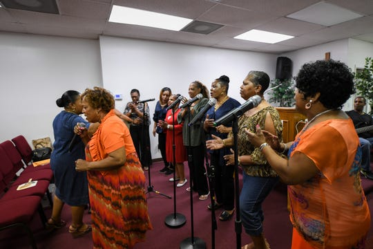 Local choir the Veney Gospel Singers of Salisbury, MD rehearse for their 50th anniversary concert, which will take place on September 8th at 5 p.m.