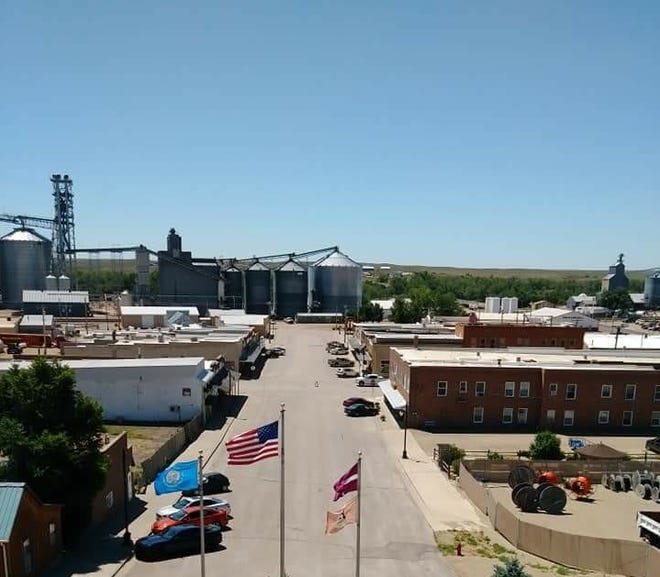 A view of Center Street in downtown Philip in Haakon County.
