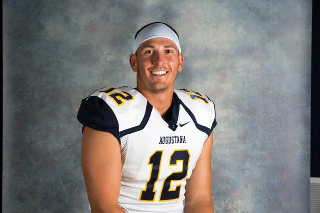 Drew Reinschmidt, a Brandon Valley graduate, now plays for Augustana University as a wide receiver.