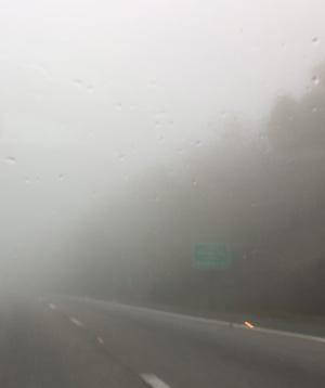 Fog on Afton in 2018.