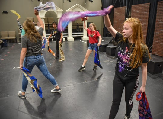 """""""A Day in the Life of Girls"""" cast members rehearse a scene from the sketch show Thursday, Aug. 23, at GREAT Theatre in Waite Park."""