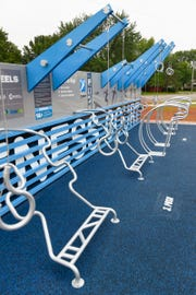 The new Waite Park Fitness Court is located in the River's Edge Park. It's shown Friday, Aug. 24, in Waite Park.
