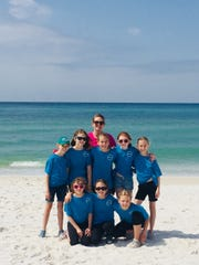 "Girl Scout Troop 565 from Hawks Rise Elementary with their leader Lisa Nichols went to Panama City Beach for a clean up and to make their video called ""Think Before You Drink"" to encourage kids to skip the straw."