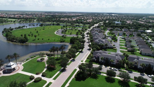 An aerial view of Tradition in southwestern Port St. Lucie, July 2, 2018, photographed using a drone.