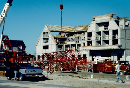 February 22, 1995 - Construction continued at Disney's 71 acre resort on State Road A1A south of Wabasso Beach which included a 115 room inn and 60 villas. The resort was expected to open in the fall of 1995.