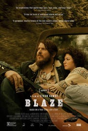 "The promotional poster for ""Blaze,"" starring Ben Dickey, who was in El Paso to promote the film."