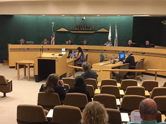 Threatened with a lawsuit by a Latino voter participation group, the Simi Valley City Council on Monday night will consider switching from an at-large system to elect council members to a district-by-district system.