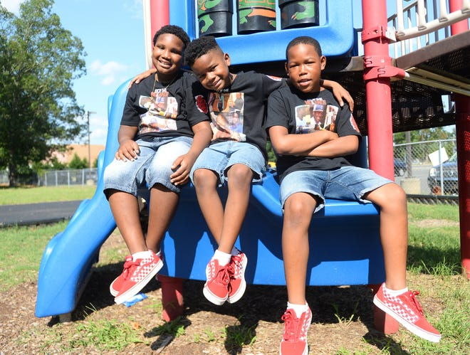 "From left to right, Kaylin ""Kool Kay"" Patterson, 9, Michael ""Lil' Mike"" George, 8 and Charles ""CP"" Patterson, 11, performed in their own rap video speaking out against recent gun violence in Millville."