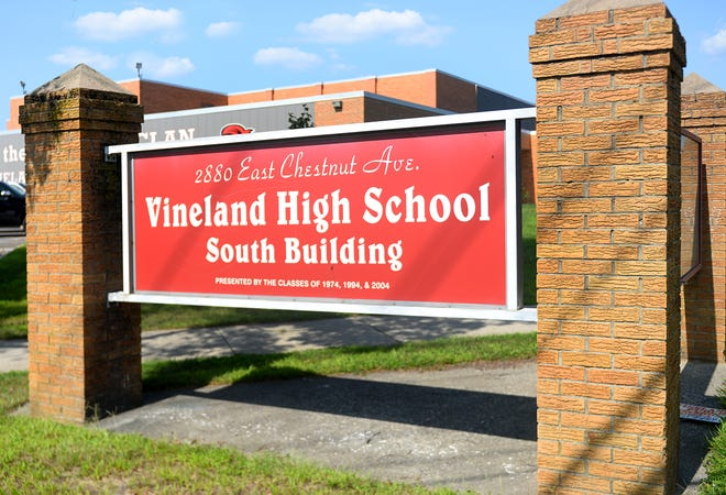 Vineland High School sign.