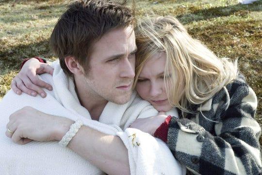 "Ryan Gosling and Kirsten Dunst in ""All Good Things."""