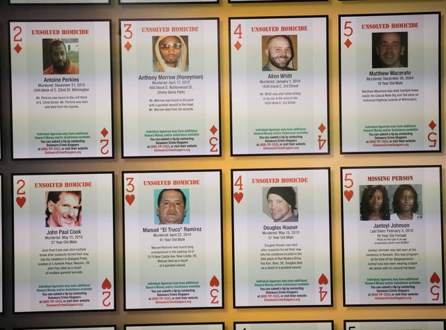 Delaware police hope playing cards will help crack cold cases