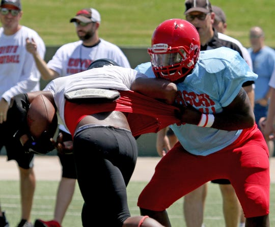 Hirschi and Wichita Falls High School held a scrimmage together Friday, Aug. 24, 2018, at Memorial Stadium. It was the first scrimmage for both teams.