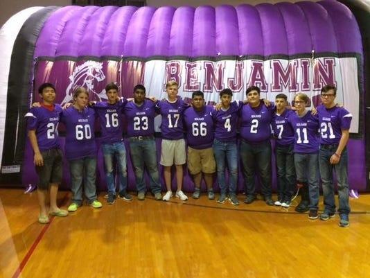 Benjamin Mustangs team pic