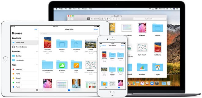 Use a cloud service, like iCloud, to back-up your important photos and other files, but you only get 5 gigabytes for free.